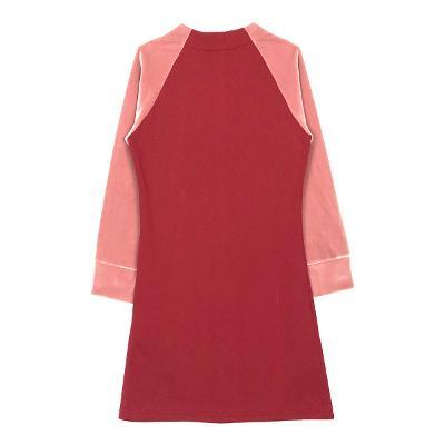 point sleeve stadium dress red